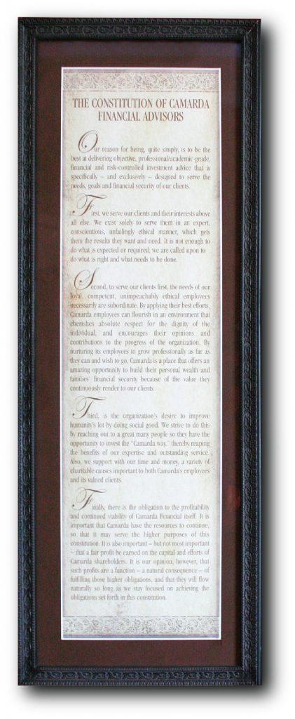 Camarda Constitution